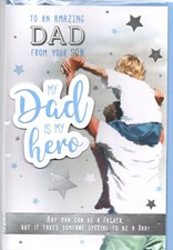 Fathers Day My Dad Is A Hero From Your Son Card - Father & Son