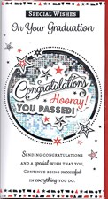 Graduation Card - You Passed! Hooray!