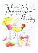 Birthday Sister-In-Law Card - Two Cocktails