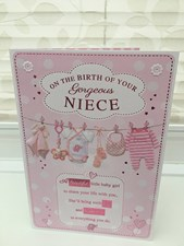 Birth Of Your Niece Card - Baby Clothes Line