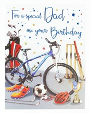 Birthday Dad Card - Sports Themed