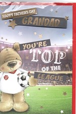 Fathers Day Grandad Card - Top Of The League