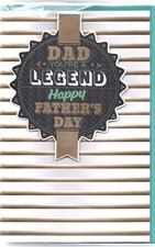 Fathers Day Dad You're A Legend Card - Stripes