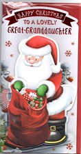 Christmas Great Granddaughter Card -To a Lovely Great Granddaughter at Christmas