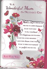 Mother's Day Card - Just For You On Mothers Day
