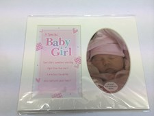 Photo Mount Baby Girl Picture 10 x 8