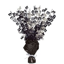 Black Glitz Age One Hundred Balloon Weight Centrepiece