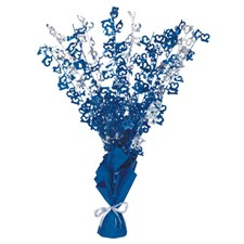 Blue Glitz 13th Balloon Weight Centrepiece