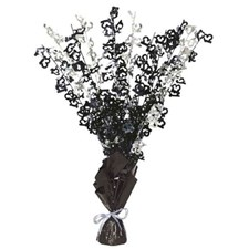 Black Glitz 13th Balloon Weight Centrepiece