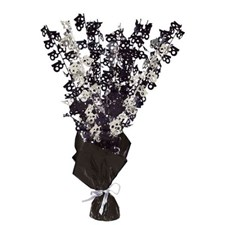 Black Glitz 18th Balloon Weight Centrepiece