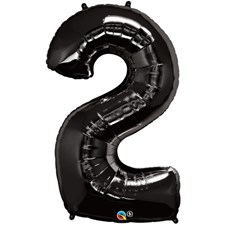 "Qualatex Black '2' Giant 34"" Number Foil Balloon"