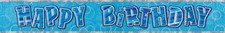 Birthday Blue All Ages Glitz Happy Birthday Banner