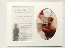 Photo Mount First Holy Communion 10 x 8 inches - Male
