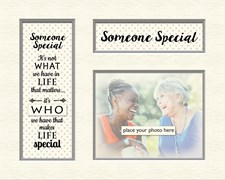 Grey Dotty Memory Photo Mount - Someone Special