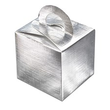 Shimmering Silver Favour/Gift Box – Pack of 10