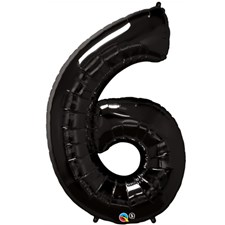 "Qualatex Black '6' Giant 34"" Number Foil Balloon"