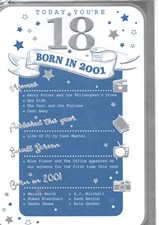 Birthday Age 18 2019 Year Card - 2001 Was a Special Year Male