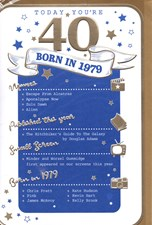 Birthday Age 40th 2019 Year Card - 1979 Was a Special Year BLUE