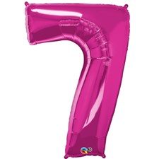 "Qualatex Pink '7' Giant 34"" Number Foil Balloon"