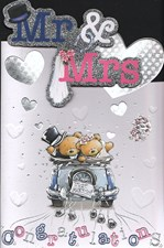 Wedding Day Card - Cute Bears Just Married