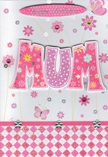 Birthday Mum 3-D Homemade Card