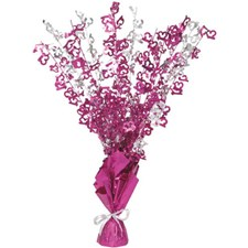 Pink Glitz 13th Balloon Weight Centrepiece