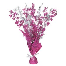 Pink Glitz 30th Balloon Weight Centrepiece