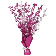 Pink Glitz 40th Balloon Weight Centrepiece