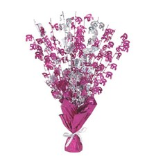 Pink Glitz 50th Balloon Weight Centrepiece