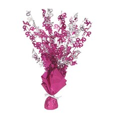 Pink Glitz 70th Balloon Weight Centrepiece