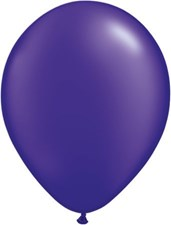 Qualatex Pearl Purple Latex Balloons - Pack of 25