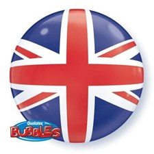 Qualatex Bubble Balloon Union Jack Pattern