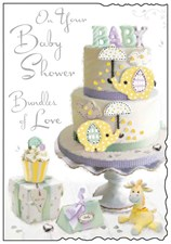 Jonny Javelin On Your Baby Shower Bundles Of Joy Card - Elephants
