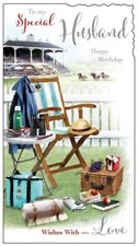 Jonny Javelin Birthday Husband Card - Deck Chair