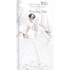 Wedding Day Wife Card - Art Deco