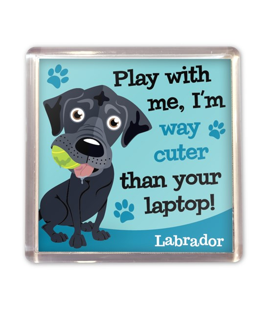 Top Dog Black Labrador Magnet
