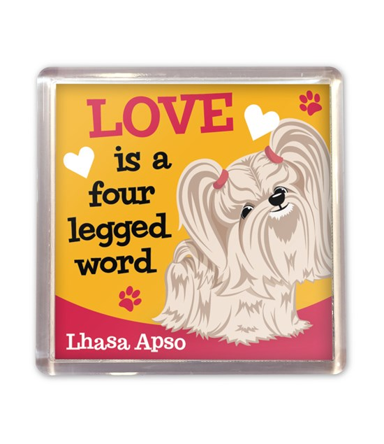 Top Dog Lhasa Apso Magnet