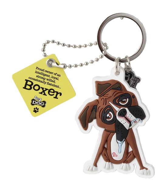 Top Dog Boxer Keyring