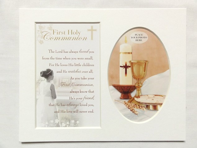 Photo Mount First Holy Communion 10 x 8 inches - Female
