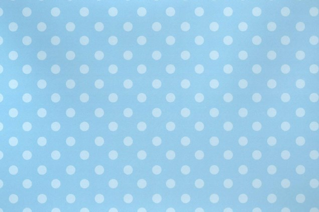 Gift Wrap Christenings & Birthdays Deluxe Blue Polka Dot - 2 Sheets & 1 Tag