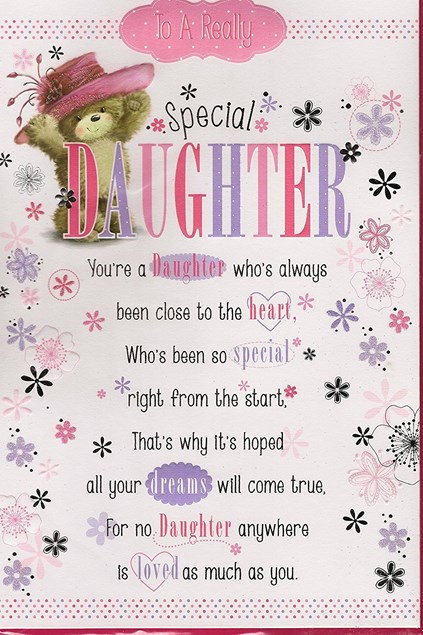 Birthday Daughter Card - Pop-Up Card