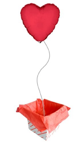 Red Heart Foil Balloon In A Box (Pre-Inflated)
