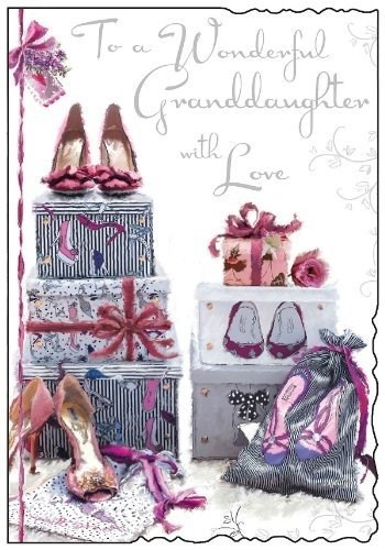 Birthday Granddaughter Card - To A Wonderful Granddaughter With Love