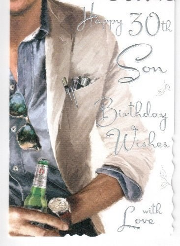 Birthday Son's 30th Card - Happy 30th Son, Birthday Wishes With Love