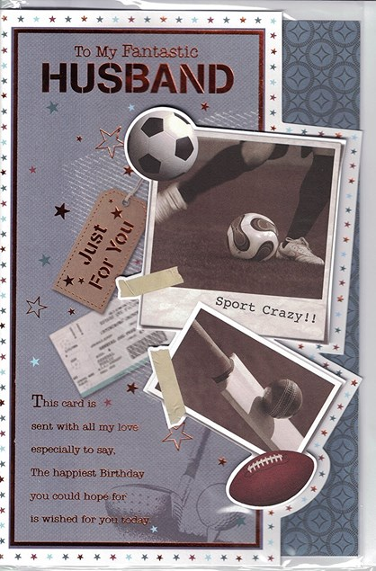 To My Fantastic Husband Just For You Card - Sports