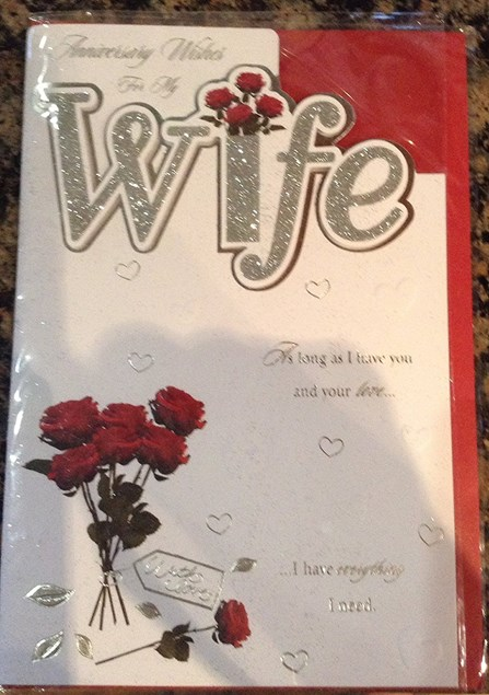 Anniversary Wife Card - Bunch Of Roses