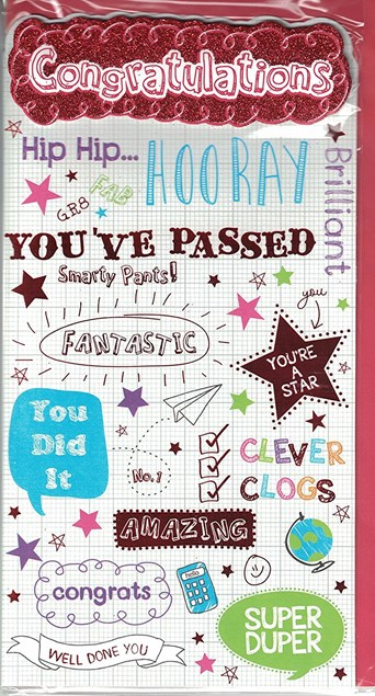 Congratulations You've Passed Your Exams Card – Doodles & Stars