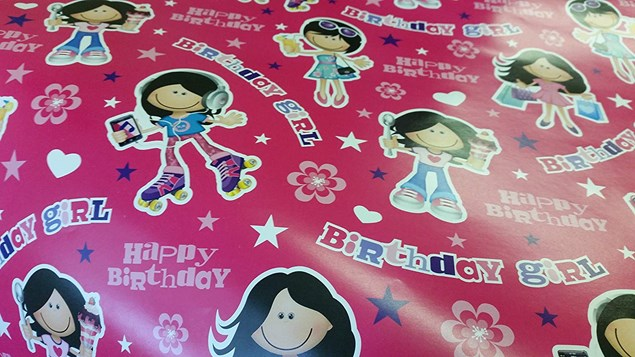 Birthday Girl Wrapping Paper - Pack of 2 Sheets and 2 Tags