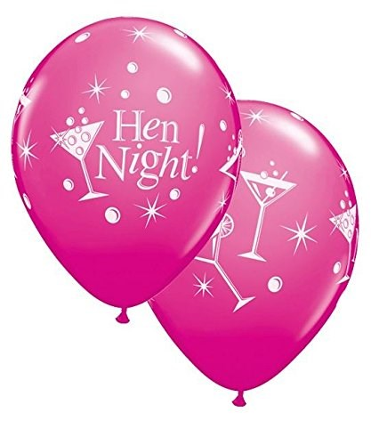 Qualatex Hen Night Latex Balloons Pack of 5 - Cocktail Glasses