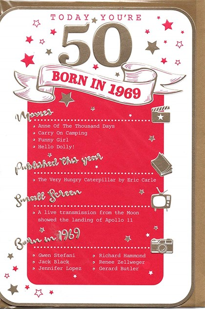 Birthday Age 50th 2019 Year Card - 1969 Was a Special Year PINK